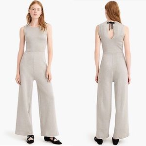 J. Crew Metallic Silver Sleeveless Jumpsuit